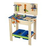 KidKraft - Banco de carpintería con herramientas, totalmente equipado (63329)
