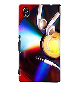 Blue Throat Cd With Ear Phones Printed Designer Back Cover/Case For Sony Xperia M4
