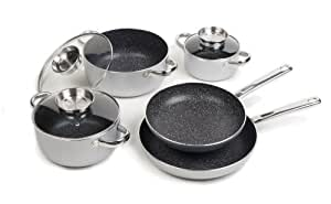 Stoneline Nonstick Stone Cookware Classic 8-Piece Set