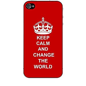 Skin4gadgets Keep Calm and Change the World - Colour - Red Phone Skin for APPLE IPHONE 4S