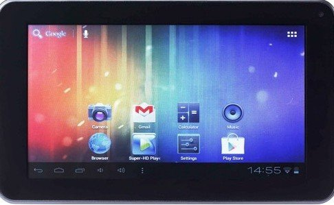 Tablet PC Featuring Android 4. (Jelly Bean) Google Play, Facebook
