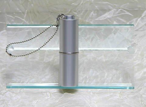 ヒロミチ アトマイザー パフューム ローラー ストラップ プレインカラー 2372 シルバー 1.8ml