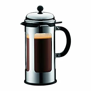 Bodum Chambord 8 Cup Double Wall Thermal Coffee Maker with New Locking Lid System, 34-Ounce