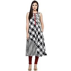 Rangmanch by Pantaloons Women Cotton Kurta (205000005574168_Black_Small)
