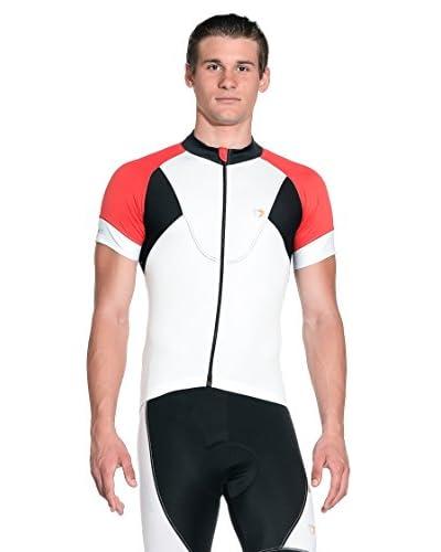 BRIKO Maglia Tecnica Gt Jersey [Bianco/Rosso/Nero]