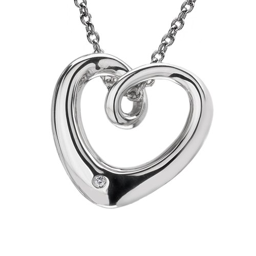 Hot Diamonds Eternal Love Silver and Diamond Pendant 45cm