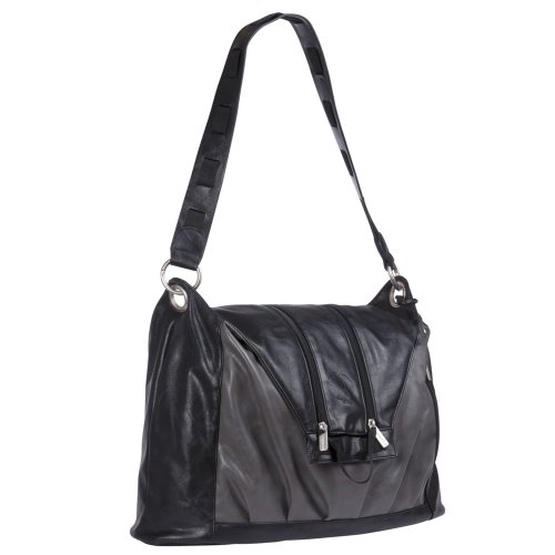 Lassig Tender 'V-Bag' Diaper Bag ,black