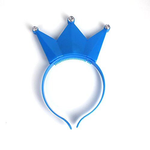 1 PC LED Light Up Flashing Crown Headband - Blue (Light Up Blue Headband compare prices)