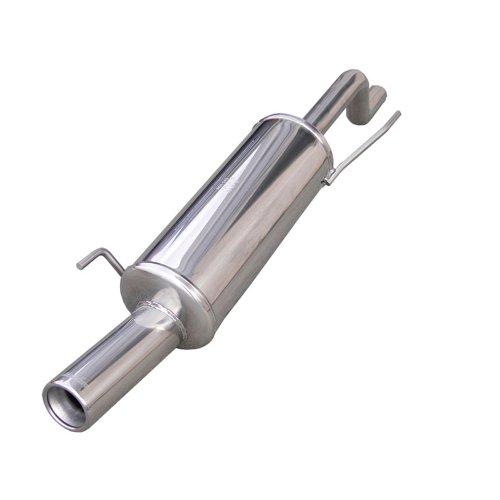 InoXcar FIPN.24.80 Sport Endschalldämpfer aus Edelstahl mit Endrohr für Fiat Grande Punto 1.4 / 1.4, 16 V, ab Baujahr 05, 80 mm