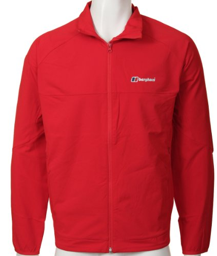 Berghaus Mens Selway Sofshell Red Jacket Size 2XL