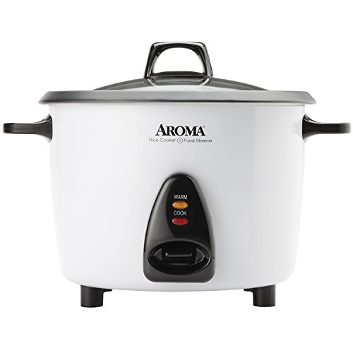 Aroma Housewares ARC-360-NGP 20-Cup Pot-Style Rice Cooker & Food Steamer, White (Rice Cooker Aroma Pot compare prices)