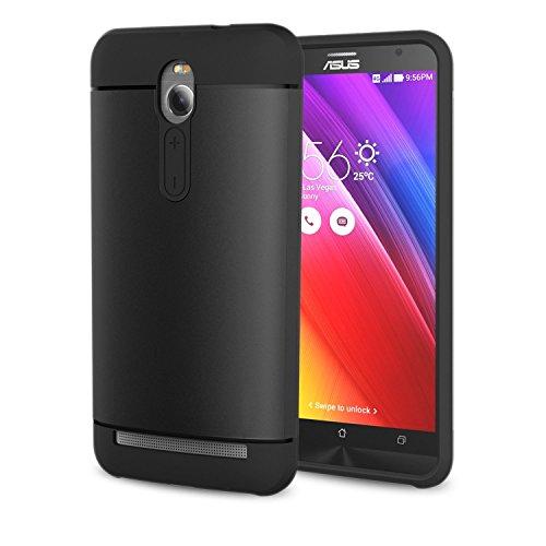 ATiC ASUS ZenFone 2 ZE550ML/ZE551ML/Deluxe 5.5インチ TPU+PC製 超軽量 保護ケース BLACK