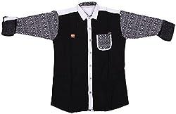 Accurate Boys' Cotton Shirt (SH 148, Multi-Coloured, 16)