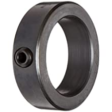 Ruland Setscrew Shaft Collar, Black Oxide Steel