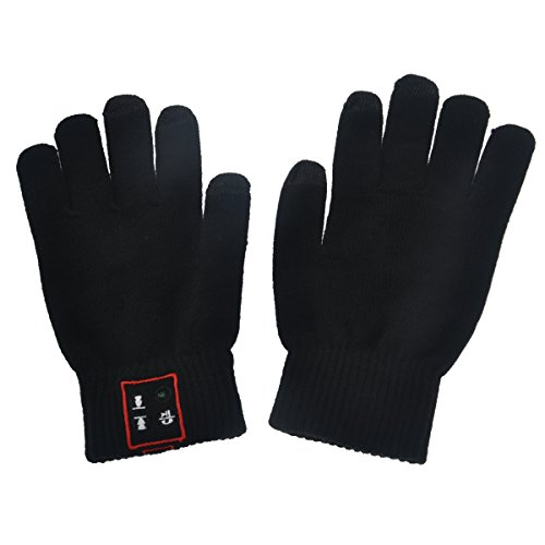 Museya A Pair of Novelty Unisex Men Women Bluetooth Talking Capacitive Touch Screen Warm Knitted Gloves with MIC Speaker for iPhone Samsung Other Android Cellphones (Black) coupon codes 2016