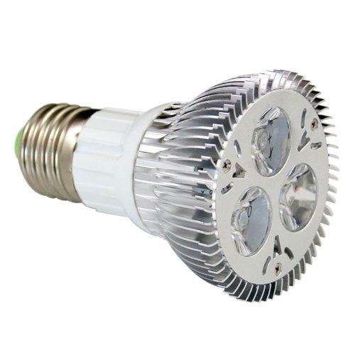 Sunsbell 9W Long Life Halogen Replacement Par20 Beam Angle 45 Degrees Beam Angle Polished Finish Aluminum Flood Light Spotlight 110 Volt E27 Screw Base Cool White Led Bulb