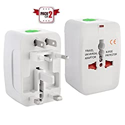 Universal World Wide Travel Charger Adapter Plug Combo / Pack Of 2 Pcs Only From M.P.Enterprises