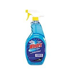 Windex Powerized Formula Glass & Surface Cleaner, 32 oz. Trigger Bottle - 12 trigger bottles of cleaner.