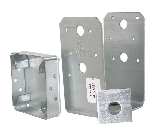 USP Structural Connectors PAU44 TZ G185 Triple Zinc Galvanized Post Base 4 by 4