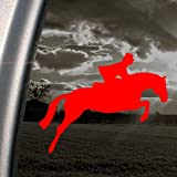 Jumping Horse Red Decal Hunter Jumper Fox Hunt Car Red Sticker
