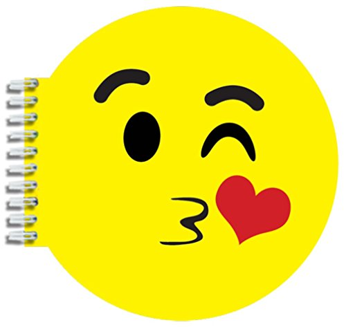 iscream Strawberry Scented Kissy Emoji Shaped Notebook - 1