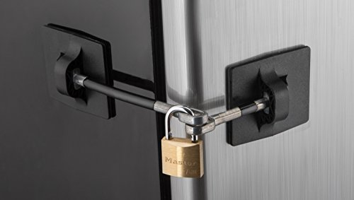 Computer Security Products Refrigerator Door Lock With Padlock, Black (Refrigerator Lock Black compare prices)