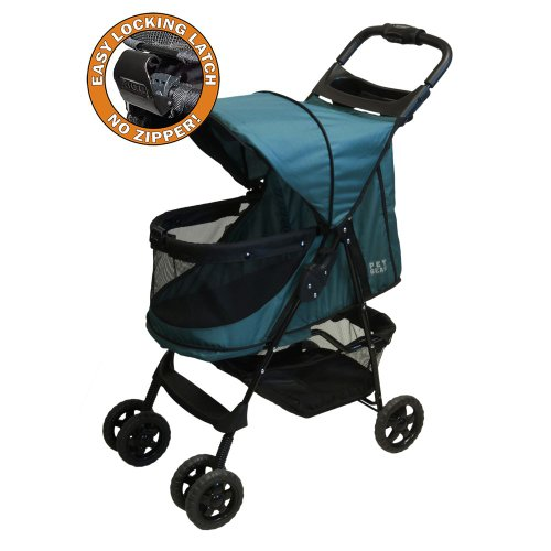 Pet Gear Happy Trails No Zip Pet Stroller, Emerald