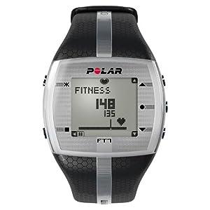 Polar FT7 Men's Heart Rate Monitor Watch M- XXL Strap (Black / Silver)