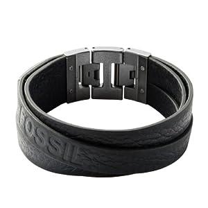 Fossil Herren-Armband Leder schwarz 18,5-20cm JF84818040