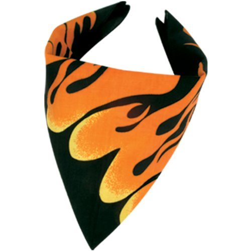 Flame Bandana Party Accessory (1 count)