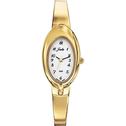 Joalia-631831-Orologio da donna con cinturino quadrante, in metallo dorato