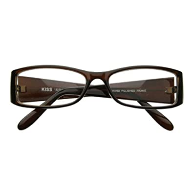zeroUV - Classic Fashion Slim Frame Optical Eyewear Glasses with Clear Lenses (Tortoise Shell)