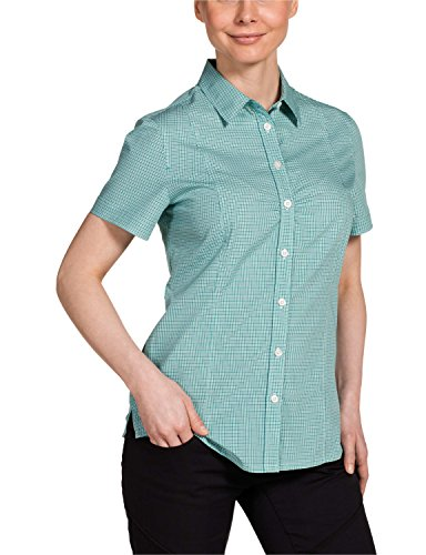 Jack Wolfskin Damen Bluse Palmerston OC Shirt, Green Lake Checks, XXL, 1401611-7579006
