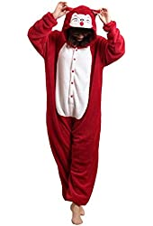SAMGU Adult Unisex Onesies Kigurumi Pyjamas Fleece Animal Costumes Cosplay Cartoon Sleepwear