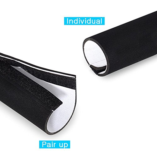 120 Inch Black and White Reversible Cable Management Neoprene Cord Cover Sleeve