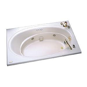 Jacuzzi E942959 Nova 5 Bath With Three Tile Flange White