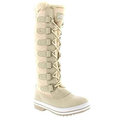 Creative Womens Winter Snow Knee High Boots Wedge Heels Platform Waterproof
