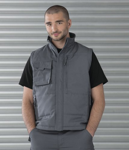 Mens Russell Workwear Gilet XX-Large Black