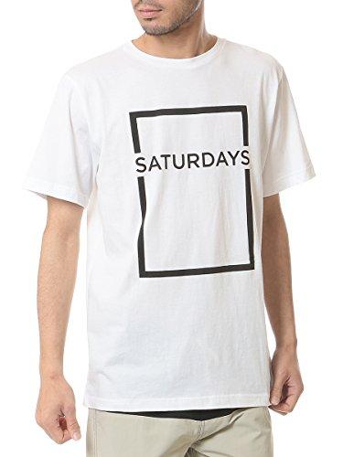 (サタデーズ サーフ ニューヨーク) SATURDAYS SURF NYC ロゴ プリント クルーネック 半袖 Tシャツ 【RECTANGLE】 [並行輸入品]