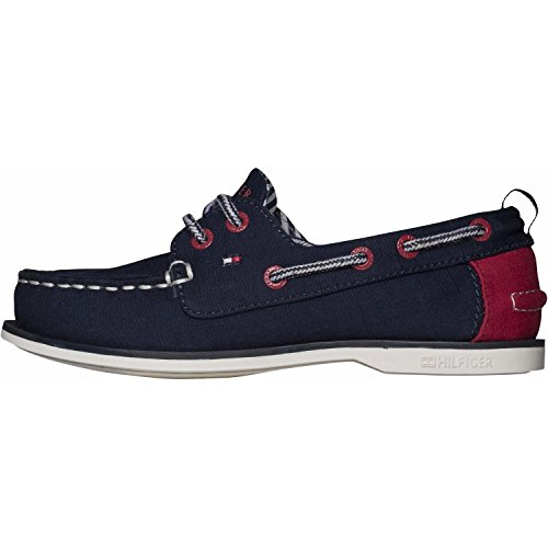 Tommy Hilfiger Deck Jr 1D-1 Midnight Textile Boat Shoes
