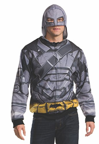 Rubie's Men's Batman v Superman: Dawn of Justice Batman Armor Costume Hoodie at Gotham City Store