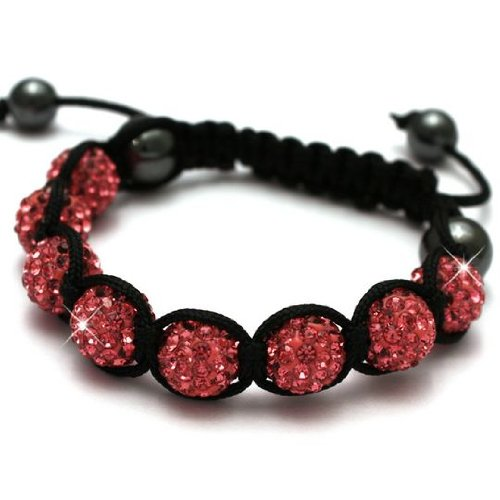 Shamballa Bracelets for Women NEW!! Rose Pink Crystal Shamballa Bracelet. Our new design is must for Christmas, this rich Rose pink will make your outfit sparkle!