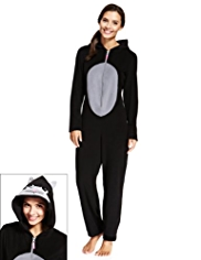 Hooded Cat Design Onesie