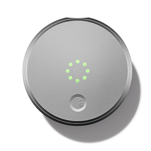 August Smart Lock - Keyless Home Entry with Your Smartphone, Silver (Nfc Door Lock compare prices)