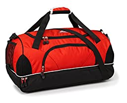 High Sierra Crossport 2 Wallop Duffel Bag, Crimson/Black/White