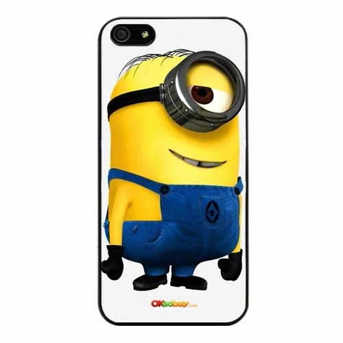 Iphone 5 Despicable Me Minion Phil Fashion Design Hard Case Cover Skin Protectorat&t Sprint Verizon Retail Packing(black Pc+pearlescent Aluminum) Ok-003