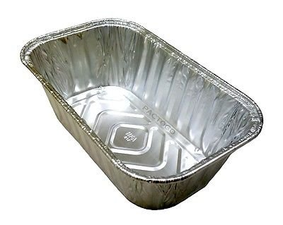 Handi-Foil 1 lb. Mini Aluminum Foil Loaf/Bread Pan -Disposable Baking Tin (pack of 10)