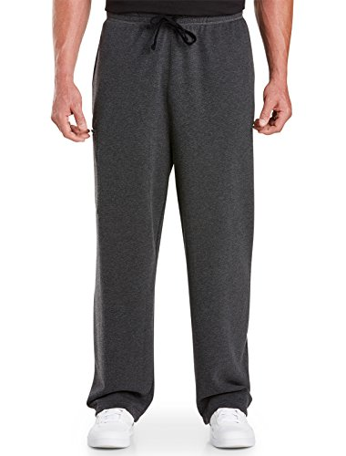 Reebok Big & Tall Heathered Cargo Pants (2XLT, Black Heather)