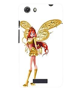 Fuson 3D Printed Angel Doll Designer Back Case Cover for Micromax Unite 3 Q372 - D908