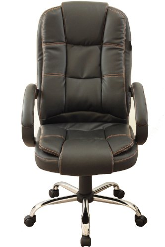 Executive High Back Black Color PU Leather Office Chair Black 11 MO